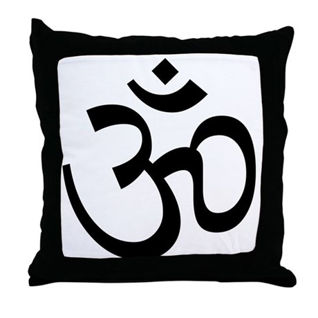 Aum / Om Symbol Throw Pillow