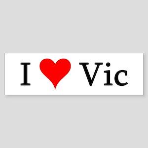 I Love Vic Bumper Sticker