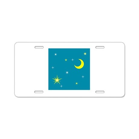 Moon Aluminum License Plate