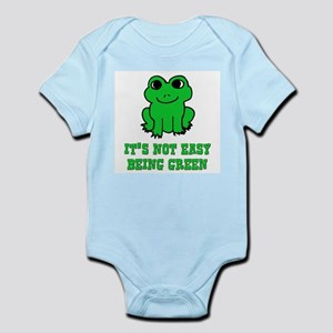 Not Easy Being Green Frog Infant Creeper