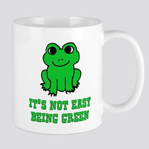 Not Easy Being Green Frog Mug