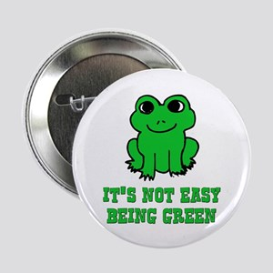Not Easy Being Green Frog Button