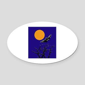 Moon Oval Car Magnet