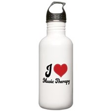 I Heart Music Therapy Stainless Water Bottle 1.0L
