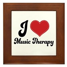 I Heart Music Therapy Framed Tile