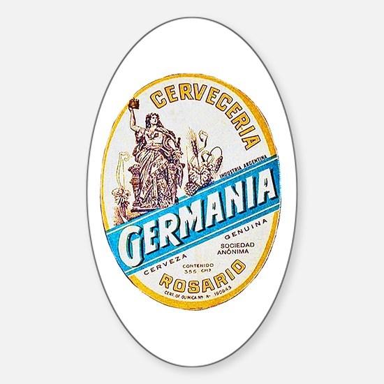 Argentina Beer Label 3 Sticker (Oval)
