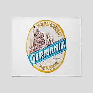 Argentina Beer Label 3 Throw Blanket