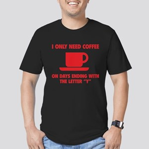 Coffee Men's Fitted T-Shirt (dark)