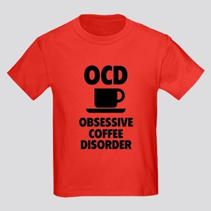 OCD Obsessive Coffee Disorder Kids Dark T-Shirt