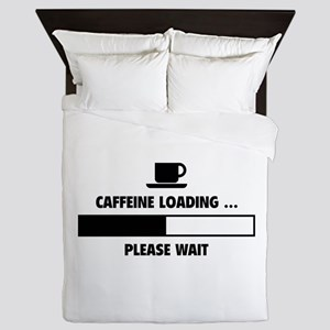 Caffeine Loading ... Please Wait Queen Duvet