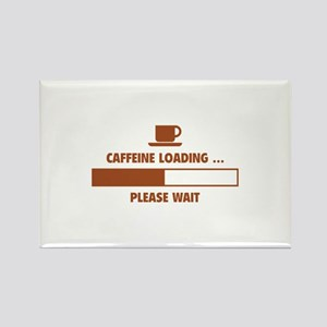 Caffeine Loading ... Please Wait Rectangle Magnet