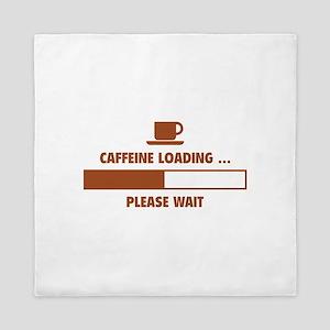 Caffeine Loading ... Please Wait Queen Duvet