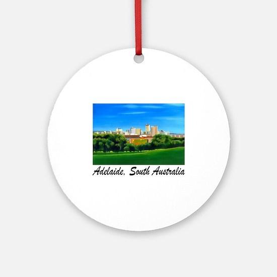 Adelaide City Skyline Ornament (Round)