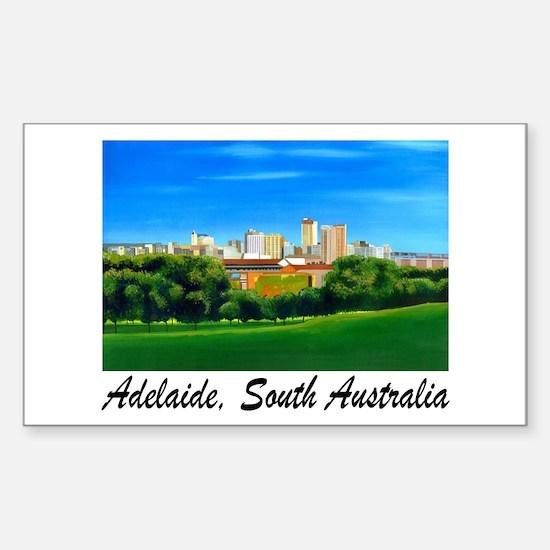 Adelaide City Skyline Rectangle Decal