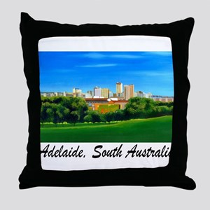 Adelaide City Skyline Throw Pillow