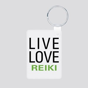 Live Love Reiki Aluminum Photo Keychain
