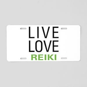 Live Love Reiki Aluminum License Plate