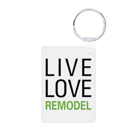 Live Love Remodel Aluminum Photo Keychain