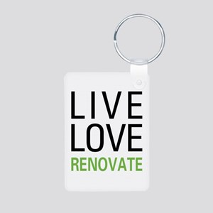 Live Love Renovate Aluminum Photo Keychain