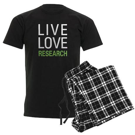 Live Love Research Men's Dark Pajamas