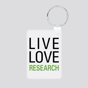 Live Love Research Aluminum Photo Keychain
