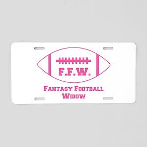2-fantasy-football-widow Aluminum License Plat