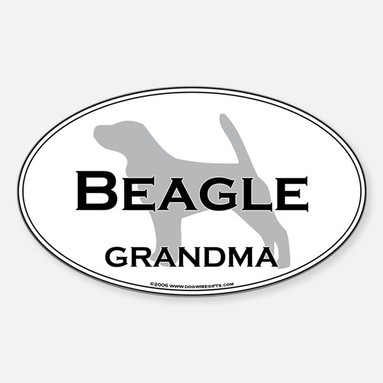 Beagle GRANDMA Oval Decal