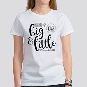 Tau Beta Sigma Big L Women's Classic White T-Shirt