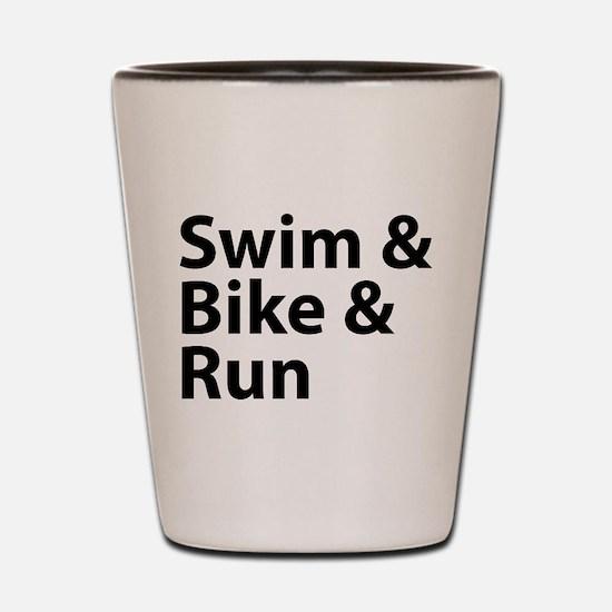 Swim & Bike & Run Shot Glass