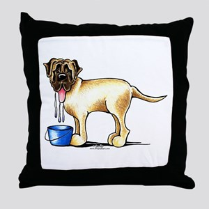 Mastiff Drool Throw Pillow