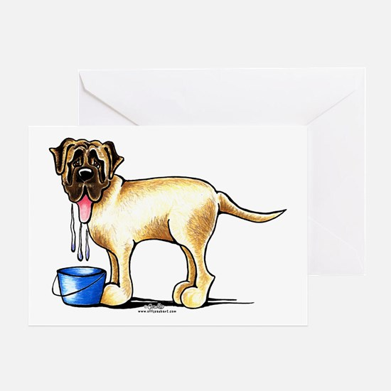 Mastiff Drool Greeting Card