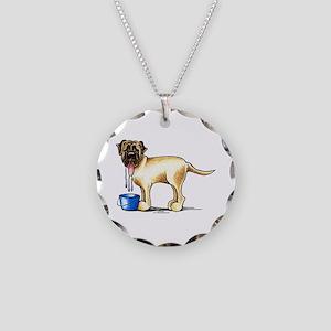 Mastiff Drool Necklace Circle Charm