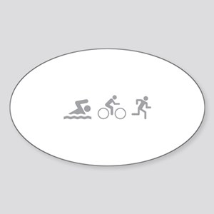 Triathlon Sticker (Oval)
