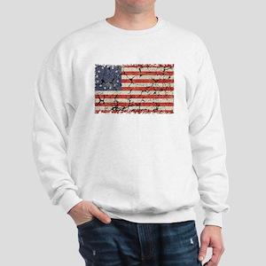 13 Colonies US Flag Distressed Sweatshirt