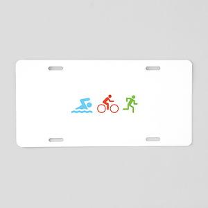 Triathlon Aluminum License Plate