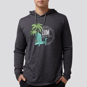 SAM Palm Tree Personalized Mens Hooded Shirt