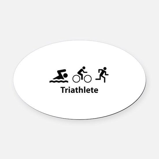 Triathlete Oval Car Magnet