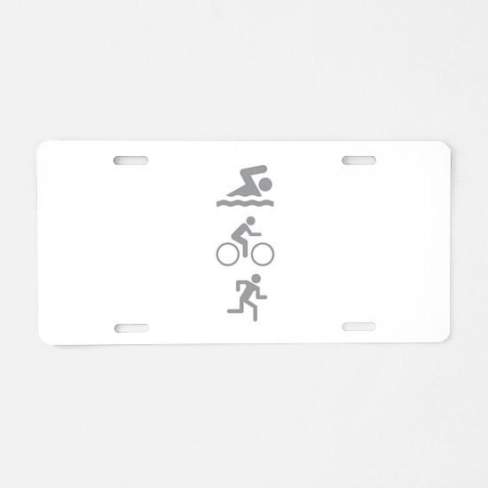 Triathlete Aluminum License Plate