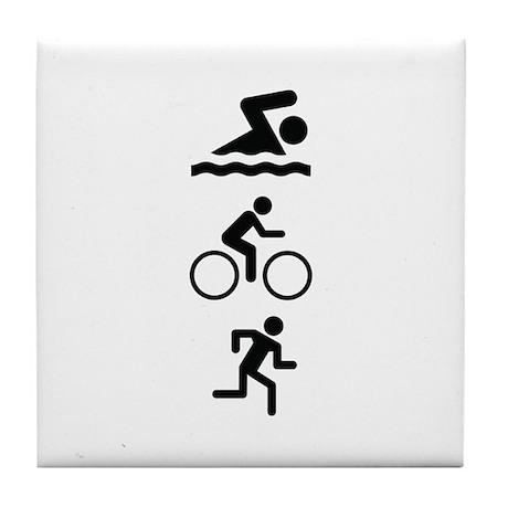 Triathlete Tile Coaster