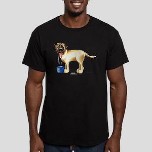 Mastiff Drool Men's Fitted T-Shirt (dark)
