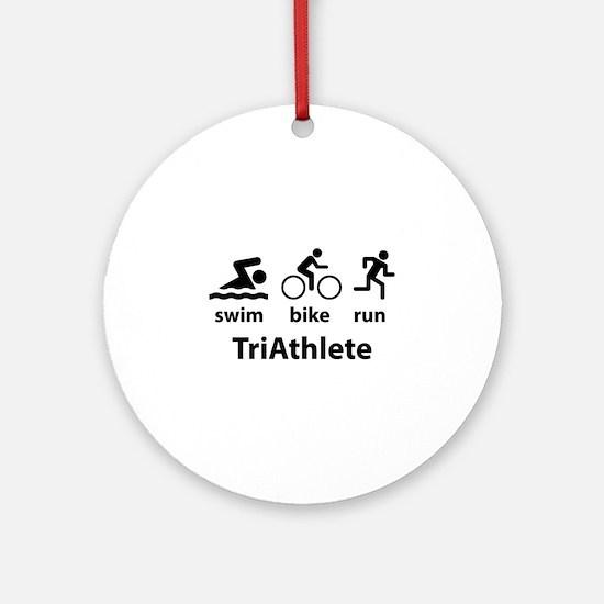 Swim Bike Run TriAthlete Ornament (Round)
