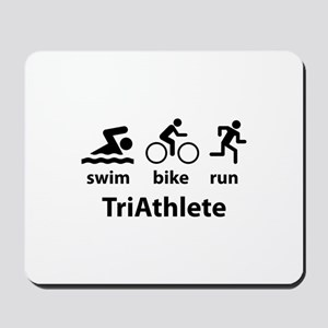 Swim Bike Run TriAthlete Mousepad