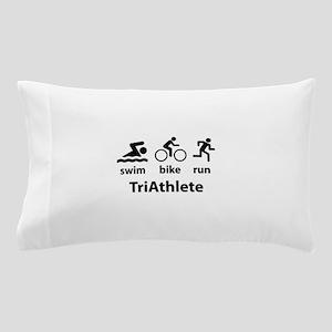 Swim Bike Run TriAthlete Pillow Case