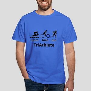 Swim Bike Run TriAthlete Dark T-Shirt