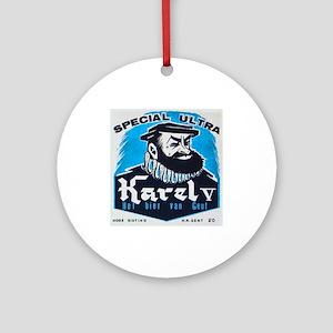 Belgium Beer Label 12 Ornament (Round)
