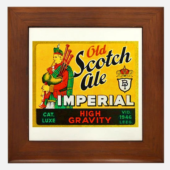 Belgium Beer Label 11 Framed Tile