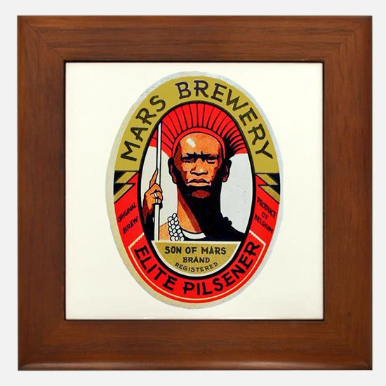 Belgium Beer Label 10 Framed Tile