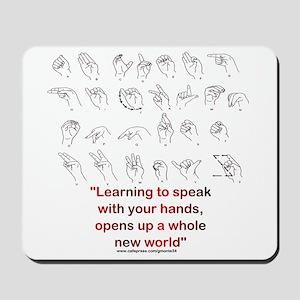 Sign Language Mousepad