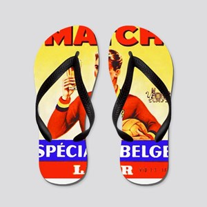 Belgium Beer Label 9 Flip Flops