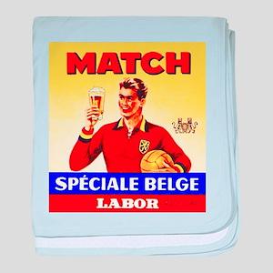Belgium Beer Label 9 baby blanket